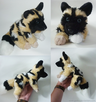 Commission: African wild dog - Small floppy 1 by goiku