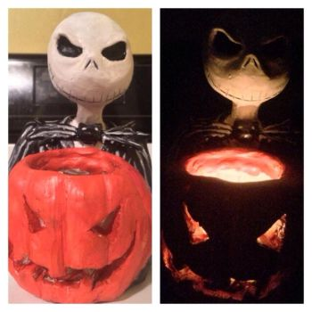 Jack Skellington Candle Holder by aylap