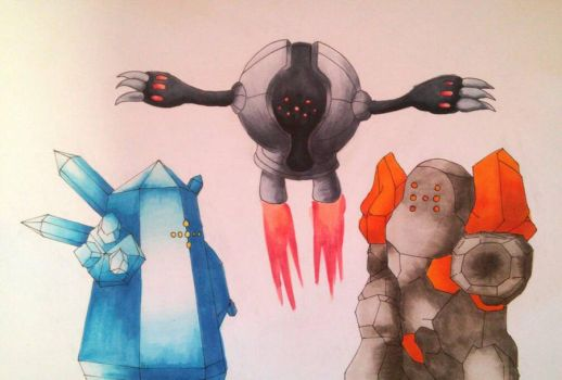 The three golems by Shadow-Storm99