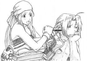 Ed and Winry by HomunculusLust