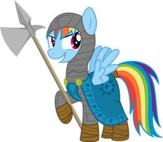 Knight Rainbow Dash by xenoneal