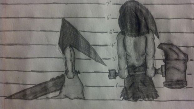 Pyramid Head and The Executioner by Jmoney2495