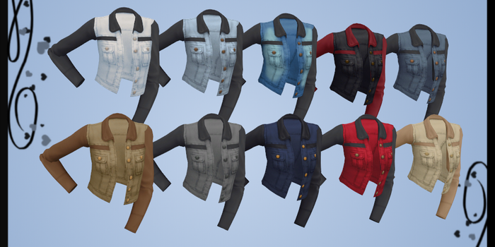 [MMD] Sims 4 Denim Jacket DOWNLOAD by Reseliee
