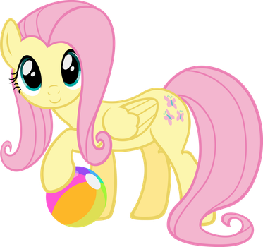 Fluttershy Found a Ball by MoongazePonies
