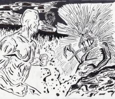 Silver Surfer and Mephisto by Dukester2000