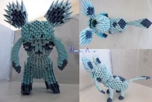3D Origami - Glaceon by Jobe3DO