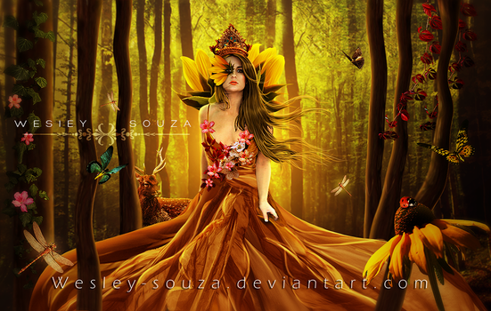 The Goddess of Spring by Wesley-Souza