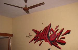 Woo on wall by 1jazzy1