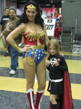 Chicago Comic Con 2011 Wonder Woman and Supergirl by DubuGomdori