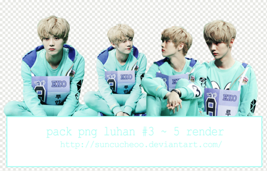 Pack Png Luhan EXO #3 ~ 5 Render by Suncucheoo