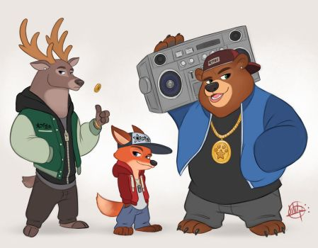 Hip Hop Crew by LuigiL