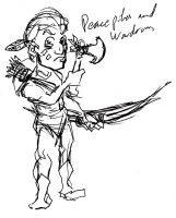 Western Indian Rough Sketch by Jeppe Roemer by TolkyJr