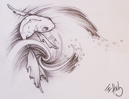 Tattoo: Fish and Water by Elysiann