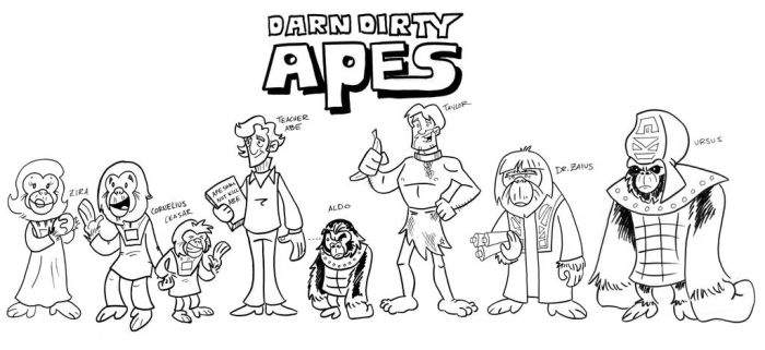 Darn Dirty Apes by MBrazee