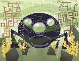 UFO Toonish Style Concept by EdBourg