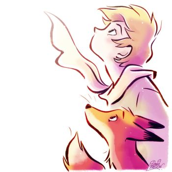 The Little Prince and the Fox in the Light by princekido