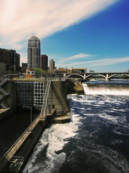 MPLS Water Dam by CarisaLaine