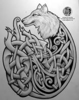 Celtic Wolf by Tattoo-Design