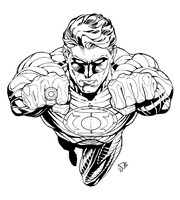Green Lantern (Inks) by HumanAbandonware