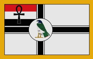alternative egypt flag ancient german empire style by Mikewildt