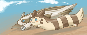 Linoone and Furret