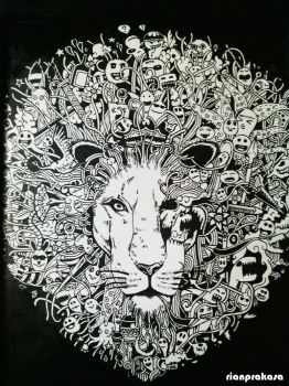 Inverted of my lion doodle by rianprakasa