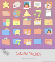 Colorful Morning Icon Set by Cappippuni