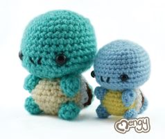 Double the Cuteness - Squirtle by mengymenagerie