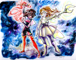 We are the crystal gems by AstroRobyn
