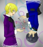 Alois Trancy and Ciel Phantomhive by AmzzCullen