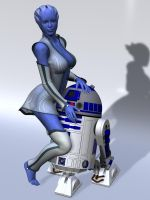 lucky little astromech by mememo