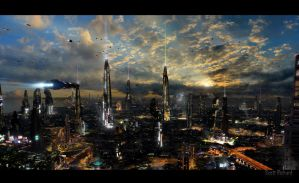 Futuristic City 4 by rich35211