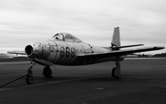 P-84B / Republic F-84 Thunderjet in Reading PA by Sabretooth