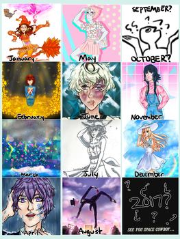 Art Summary 2016 by TheCartoonLife