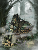 Argonian witch by kevintheradioguy