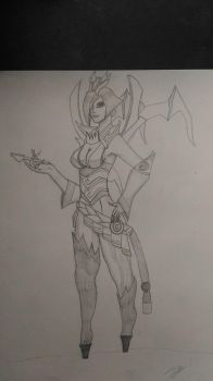 League of Legends - Bloodmoon Elise  by Draxdemon