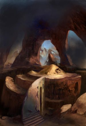 Card Game Illustration: Pile of Gold by ValentiniaK