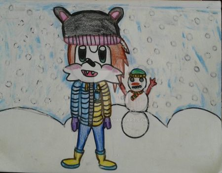 Playing in the snow by Tabby010