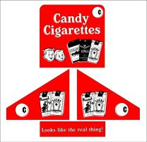 Candy Cigarettes POP Display by PredatorVision