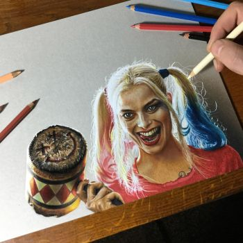 Harley Quinn Suicide Squad Drawing by marcellobarenghi