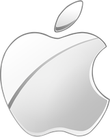 (late gift)Silver Apple logo vector(2) by Windows7StarterFan