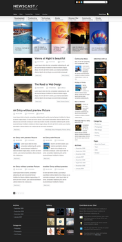 Magazine and Blog Template by lickmystyle