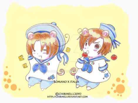 aph:tomato brothers by chibimeli