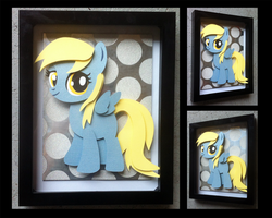 Shadowbox:  Filly Derpy by The-Paper-Pony