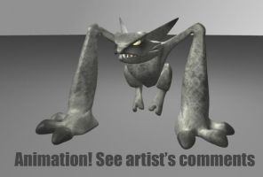 Creature 3-D Animation by DatDatori