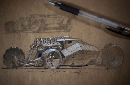 Hot Rod Tank Sketch by FutureElements