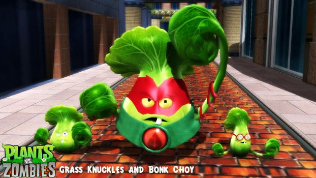 (MMD Model) Grass Knuckles and Bonk Choy DL by SAB64