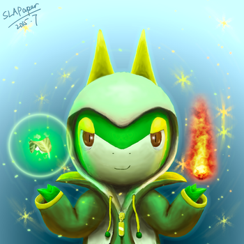 Sorcerer of Grass and Flame by SLAPaper