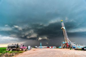 Supercell Base Structure - Cherokee, OK by Bvilleweatherman