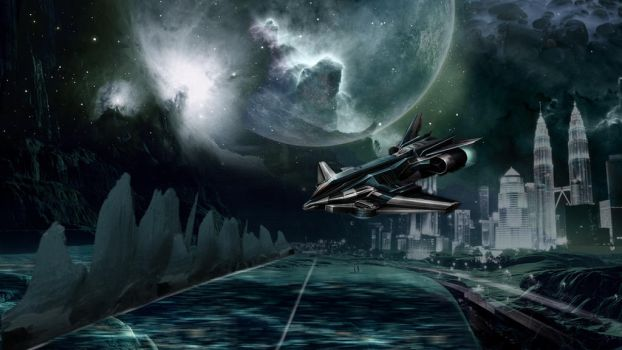 Space Art Photo Manipulation by Toreeya
